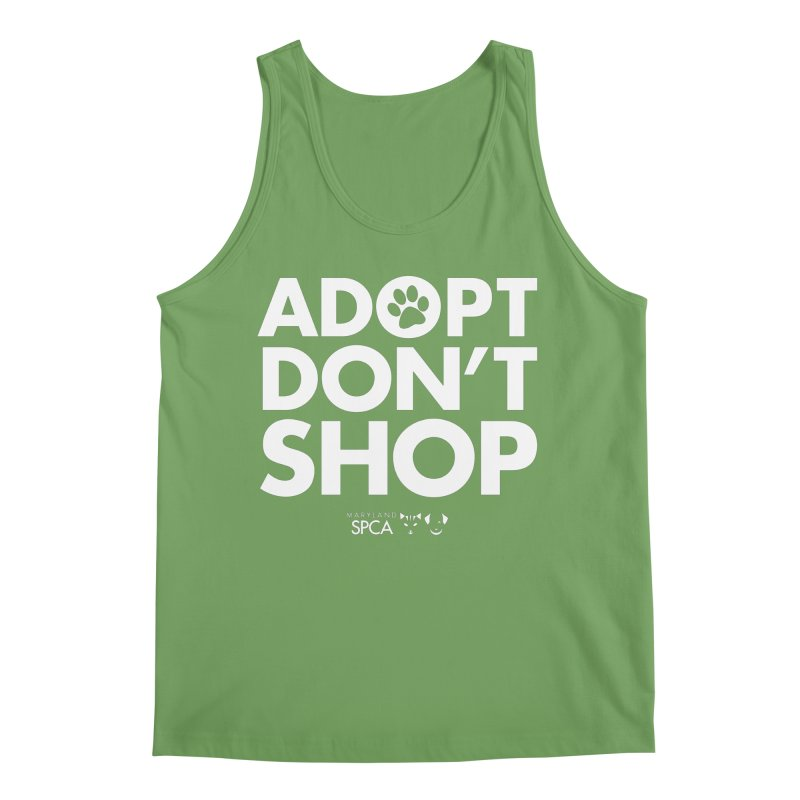 Adopt Don't Shop - WHITE- MD SPCA Design Men's Tank by Maryland SPCA's Artist Shop