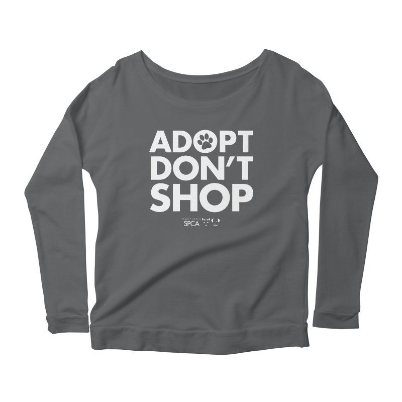 Adopt Don't Shop - WHITE- MD SPCA Design Women's Longsleeve T-Shirt by Maryland SPCA's Artist Shop