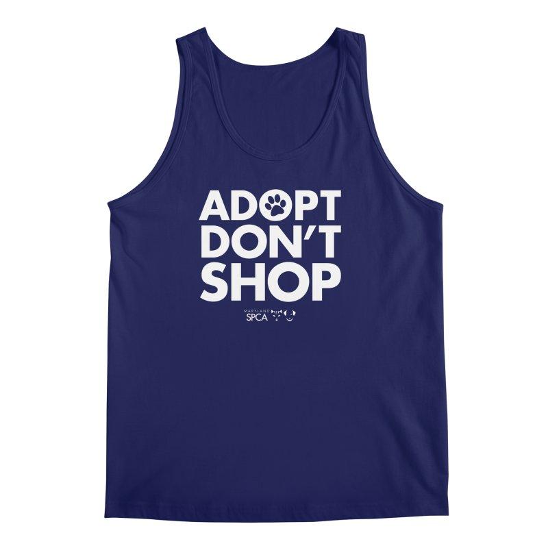 Adopt Don't Shop - WHITE- MD SPCA Design Men's Regular Tank by marylandspca's Artist Shop