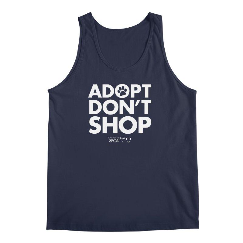 Adopt Don't Shop - WHITE- MD SPCA Design Men's Regular Tank by Maryland SPCA's Artist Shop
