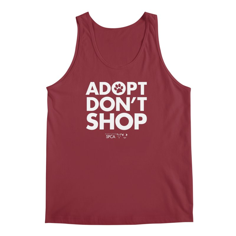 Adopt Don't Shop - WHITE- MD SPCA Design Men's Regular Tank by Maryland SPCA's Artist Shop