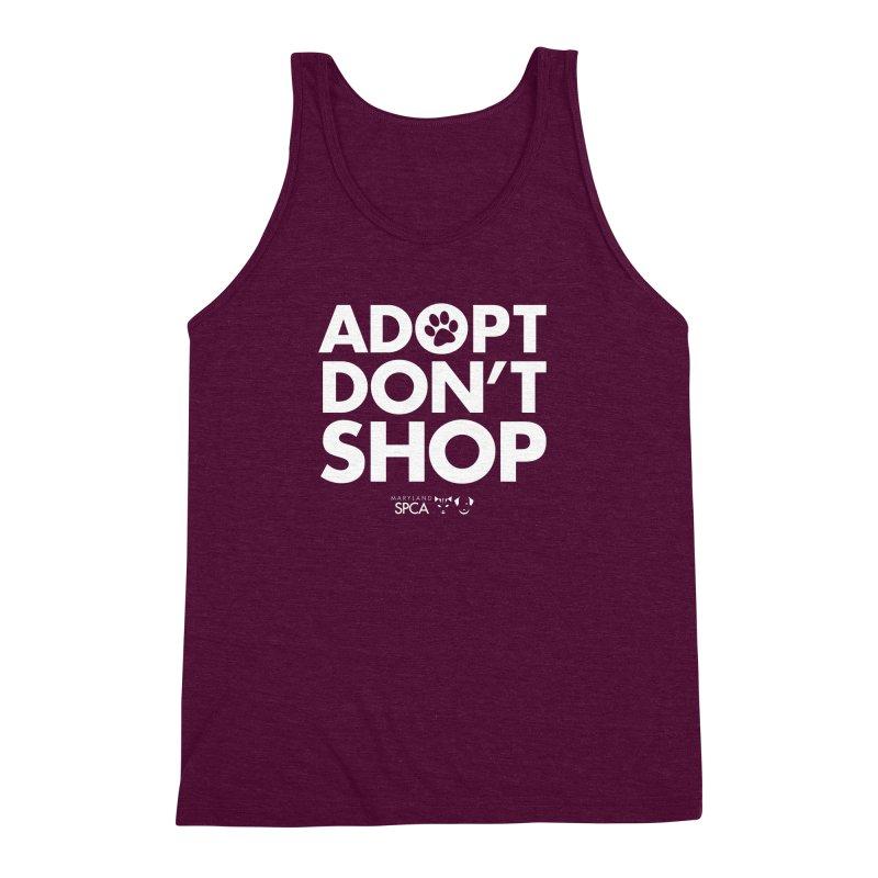 Adopt Don't Shop - WHITE- MD SPCA Design Men's Triblend Tank by Maryland SPCA's Artist Shop