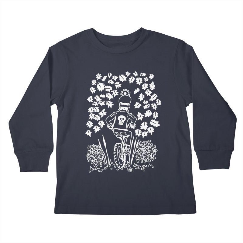 Pedal Dark Doom Kids Longsleeve T-Shirt by maryroselytle's shop