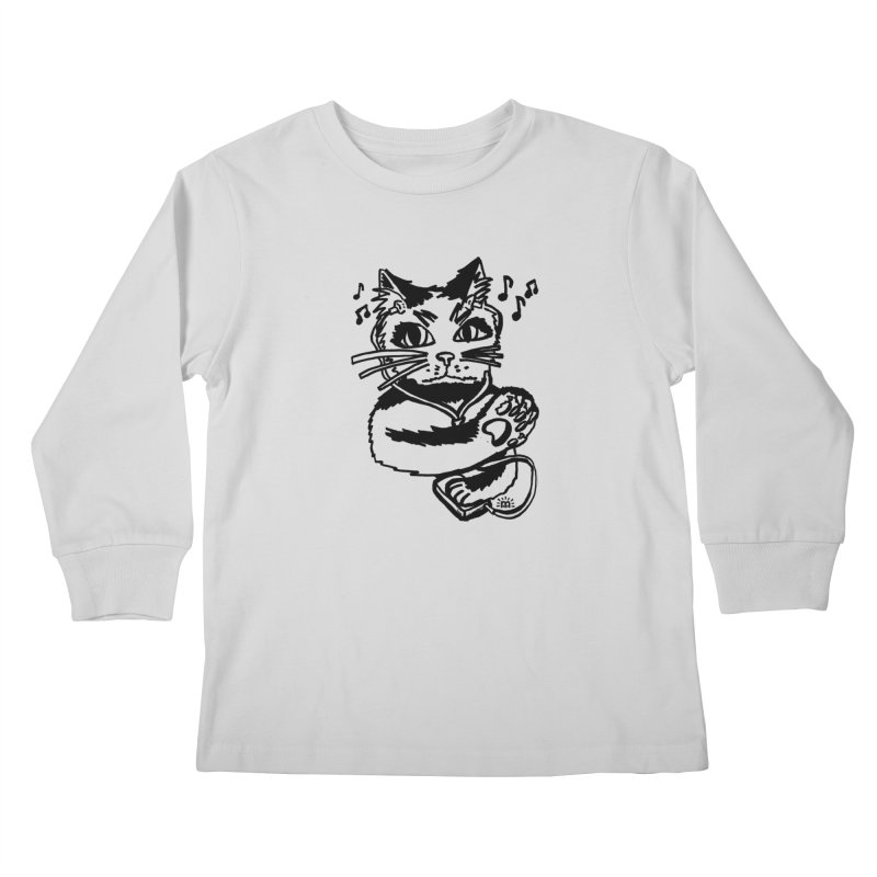 Cat Don't Bother Me in Kids Longsleeve T-Shirt Heather Grey by maryroselytle's shop