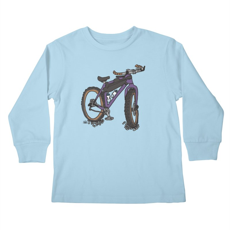 Bike in Kids Longsleeve T-Shirt Powder Blue by maryroselytle's shop