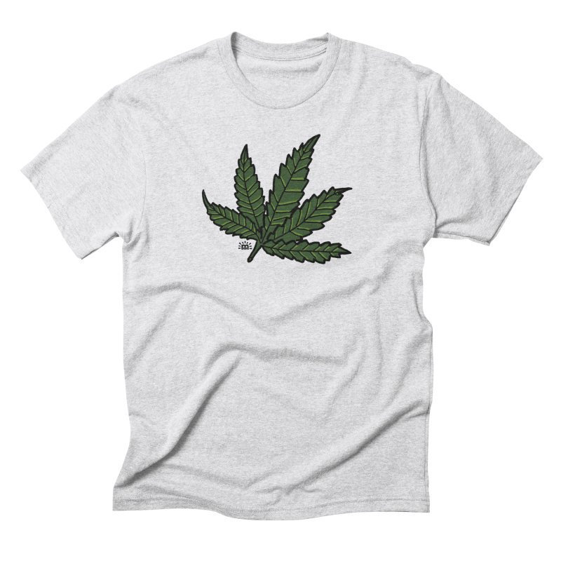Cannabis Leaf in Men's Triblend T-Shirt Heather White by maryroselytle's shop