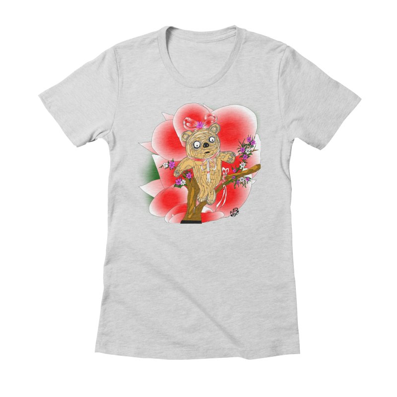 Sweet Cake Bear Women's Fitted T-Shirt by Mashuga Moose® is on the loose.