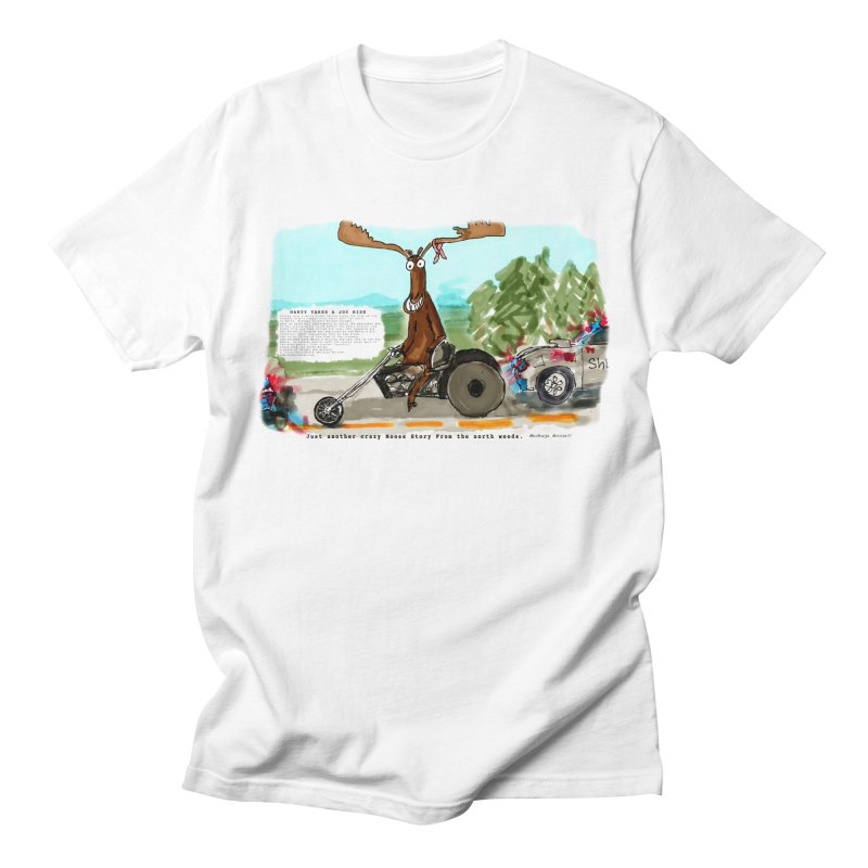 Marty takes a ride Men's T-Shirt by Mashuga Moose® is on the loose.