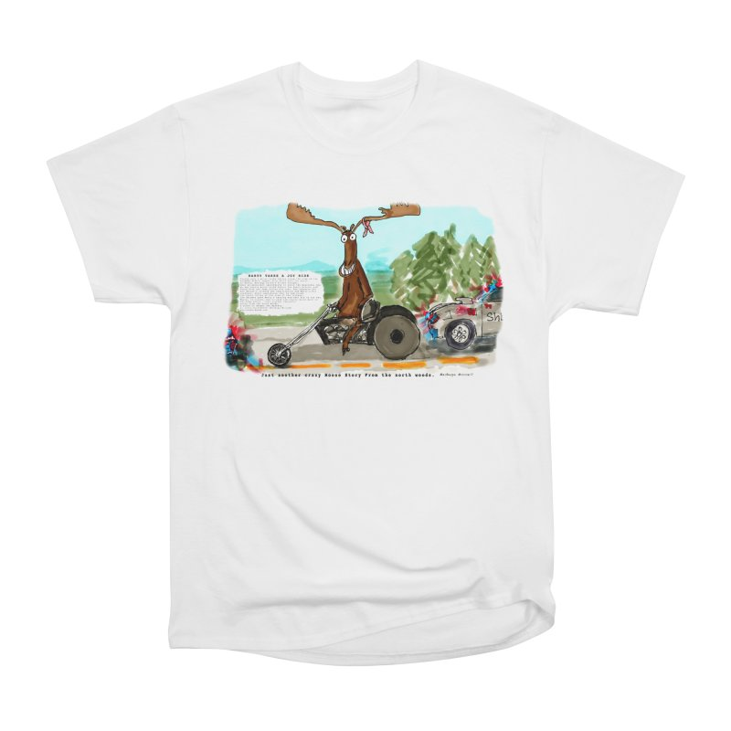 Marty takes a ride Men's Heavyweight T-Shirt by Mashuga Moose® is on the loose.