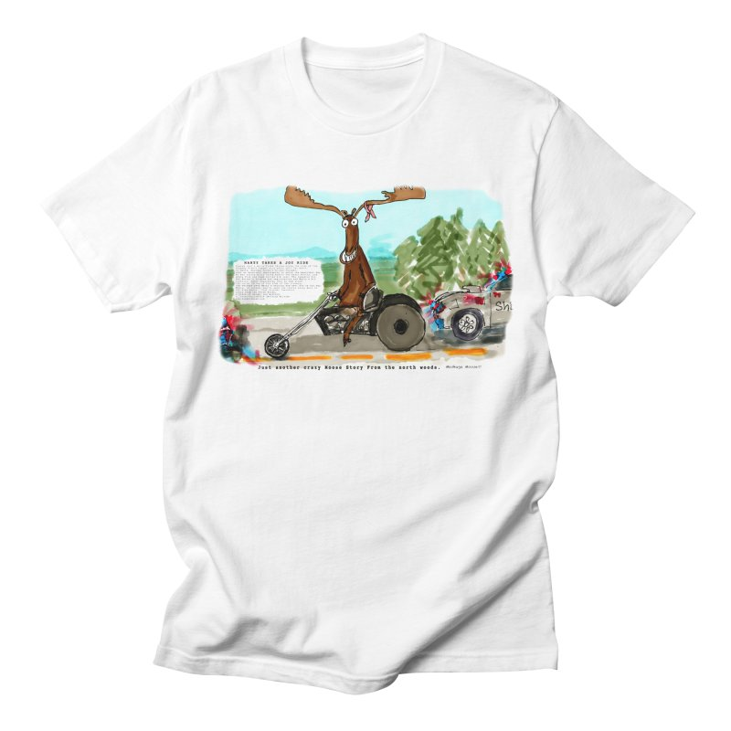 Marty takes a ride Men's Regular T-Shirt by Mashuga Moose® is on the loose.