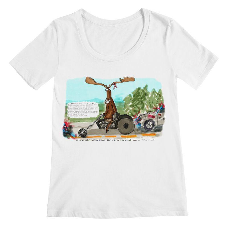 Marty takes a ride Women's Regular Scoop Neck by Mashuga Moose® is on the loose.