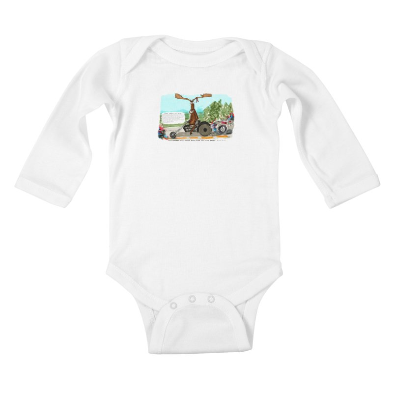 Marty takes a ride Kids Baby Longsleeve Bodysuit by Mashuga Moose® is on the loose.
