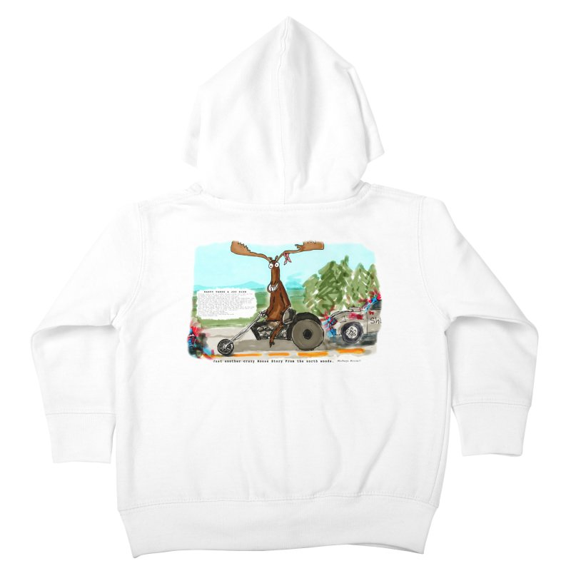 Marty takes a ride Kids Toddler Zip-Up Hoody by Mashuga Moose® is on the loose.