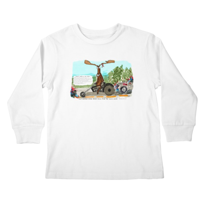 Marty takes a ride Kids Longsleeve T-Shirt by Mashuga Moose® is on the loose.