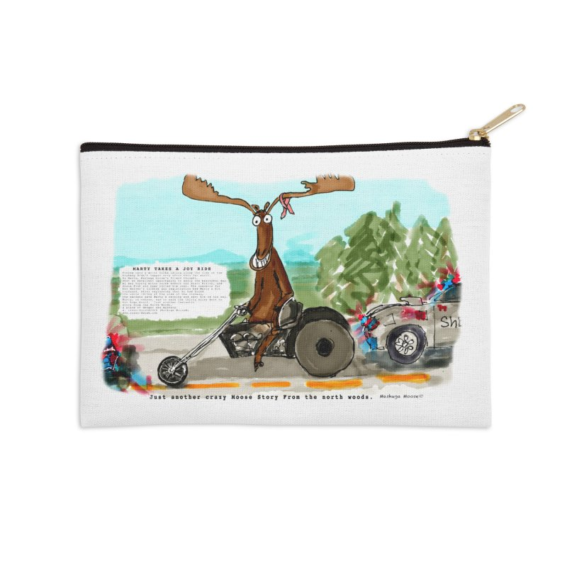 Marty takes a ride Accessories Zip Pouch by Mashuga Moose® is on the loose.