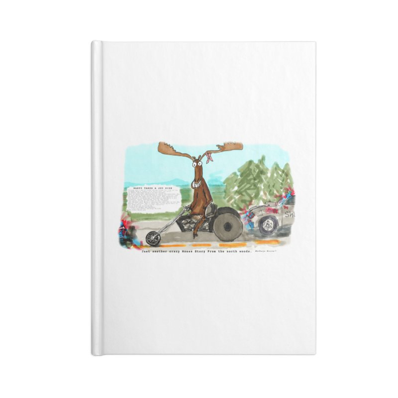 Marty takes a ride Accessories Blank Journal Notebook by Mashuga Moose® is on the loose.