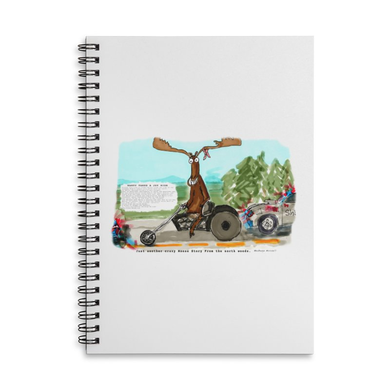 Marty takes a ride Accessories Lined Spiral Notebook by Mashuga Moose® is on the loose.