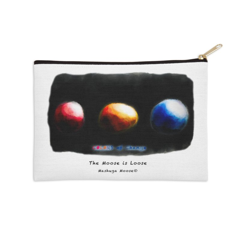 "Colors of Change, ""The Moose is Loose"" Accessories Zip Pouch by Mashuga Moose® is on the loose."