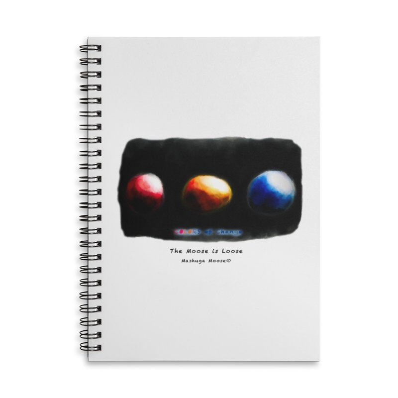 """Colors of Change, """"The Moose is Loose"""" Accessories Lined Spiral Notebook by Mashuga Moose® is on the loose."""