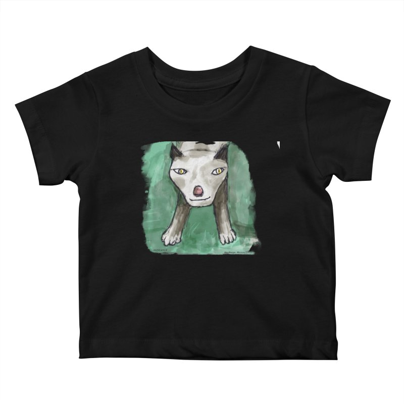 MEOW! Kids Baby T-Shirt by Mashuga Moose® is on the loose.