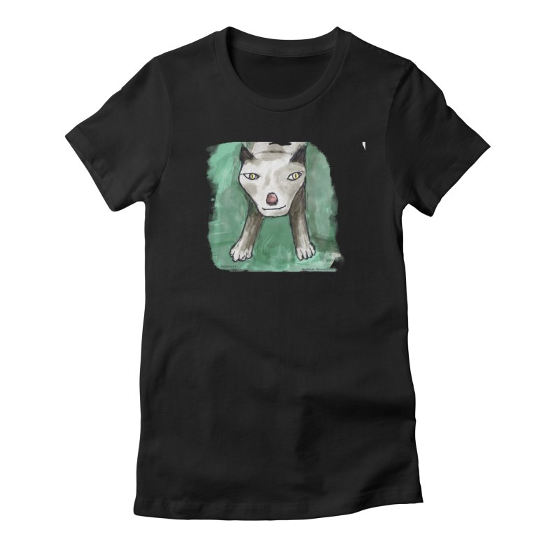 MEOW! Women's Fitted T-Shirt by Mashuga Moose® is on the loose.