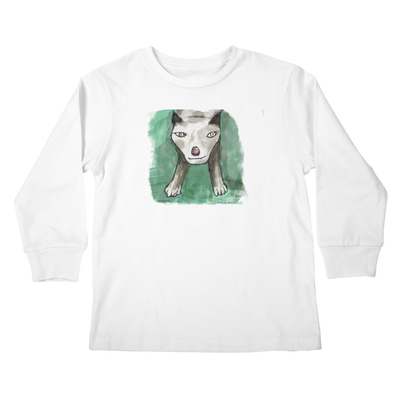 MEOW! Kids Longsleeve T-Shirt by Mashuga Moose® is on the loose.