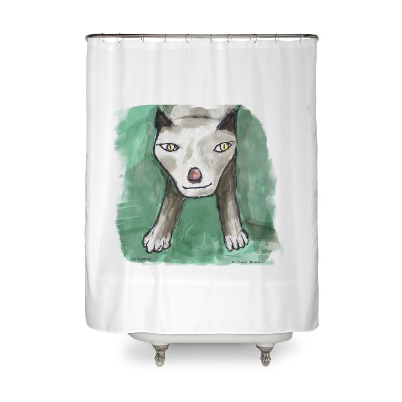 MEOW! Home Shower Curtain by Mashuga Moose® is on the loose.