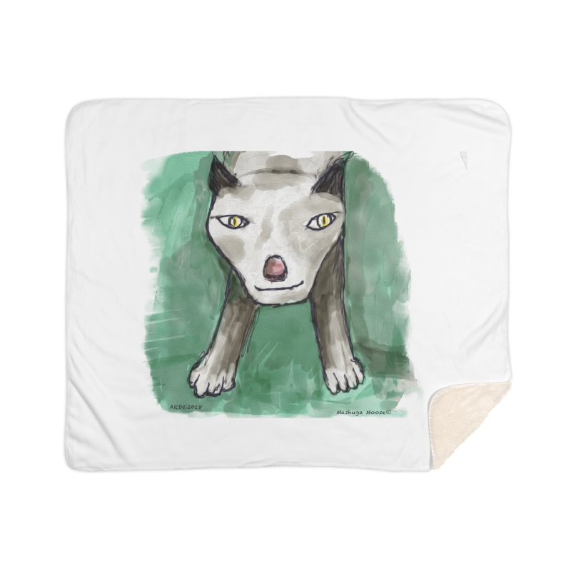 MEOW! Home Sherpa Blanket Blanket by Mashuga Moose® is on the loose.