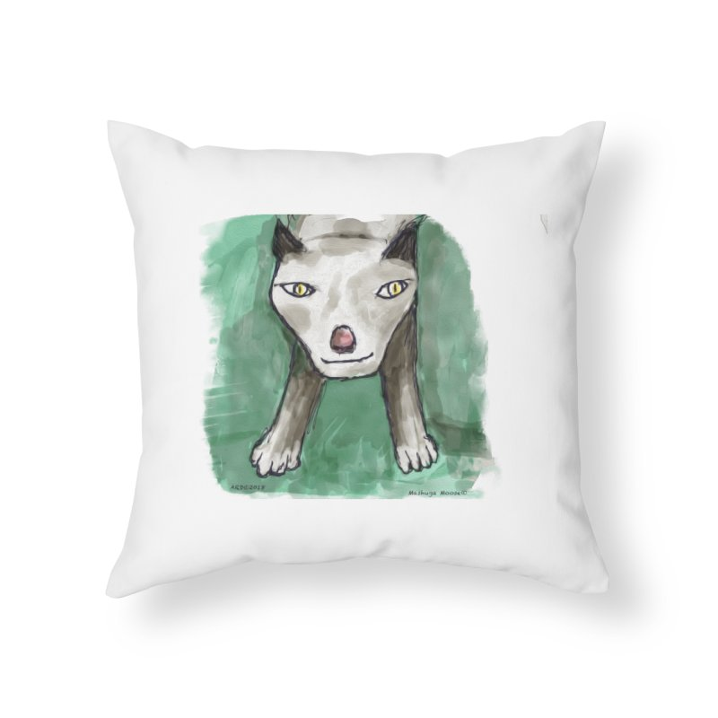 MEOW! Home Throw Pillow by Mashuga Moose® is on the loose.