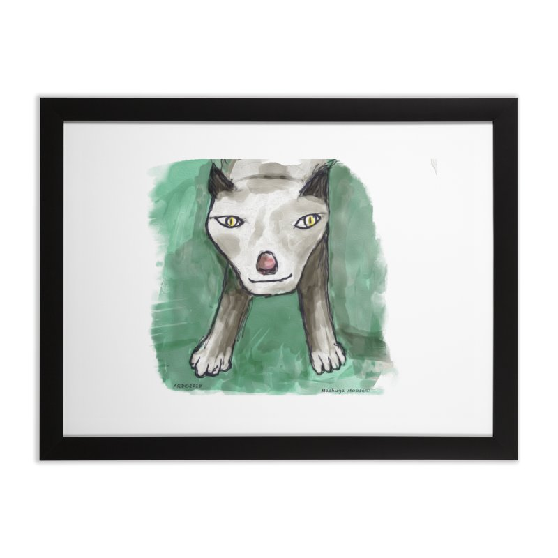 MEOW! Home Framed Fine Art Print by Mashuga Moose® is on the loose.