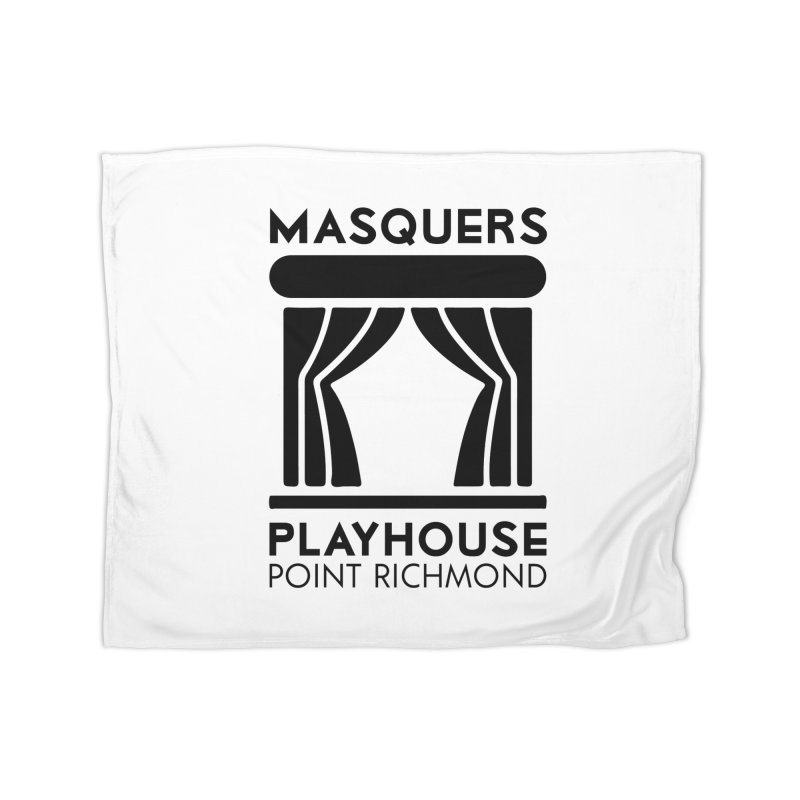 Black Logo Home Blanket by Masquers's Artist Shop
