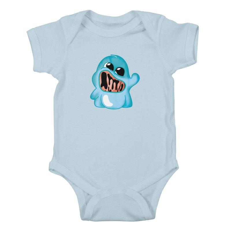 bubblegum monster Kids Baby Bodysuit by masslos's Artist Shop