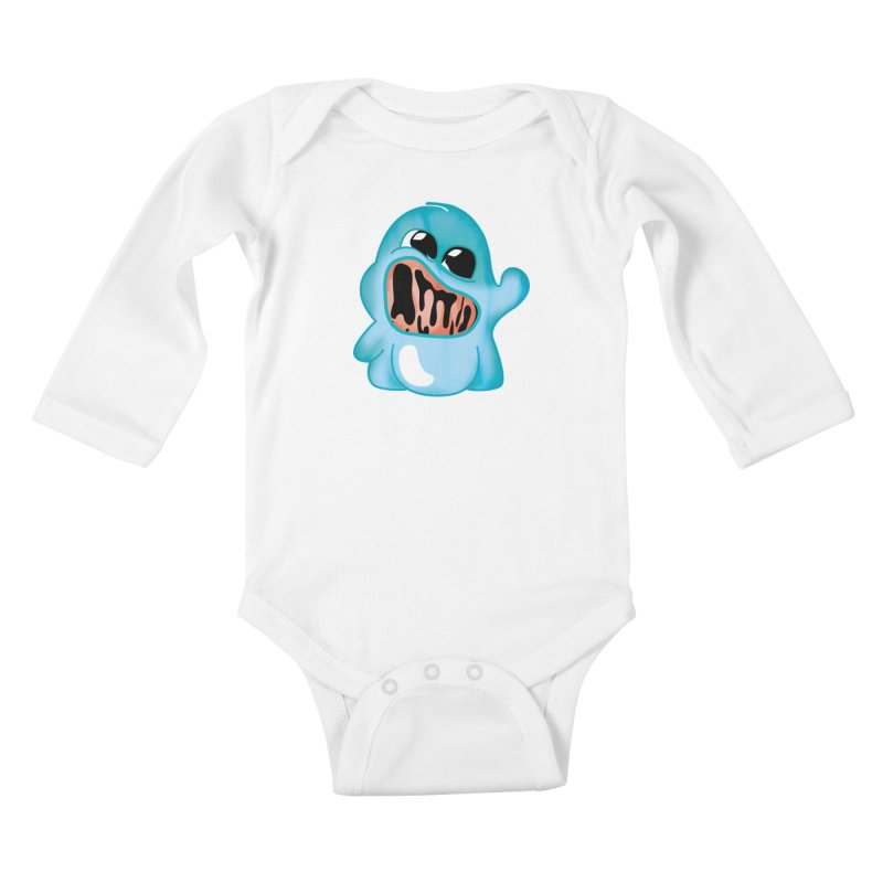 bubblegum monster Kids Baby Longsleeve Bodysuit by masslos's Artist Shop