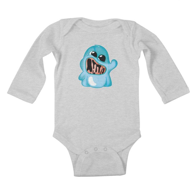 bubblegum monster Kids Baby Longsleeve Bodysuit by masslos's Artist Shop