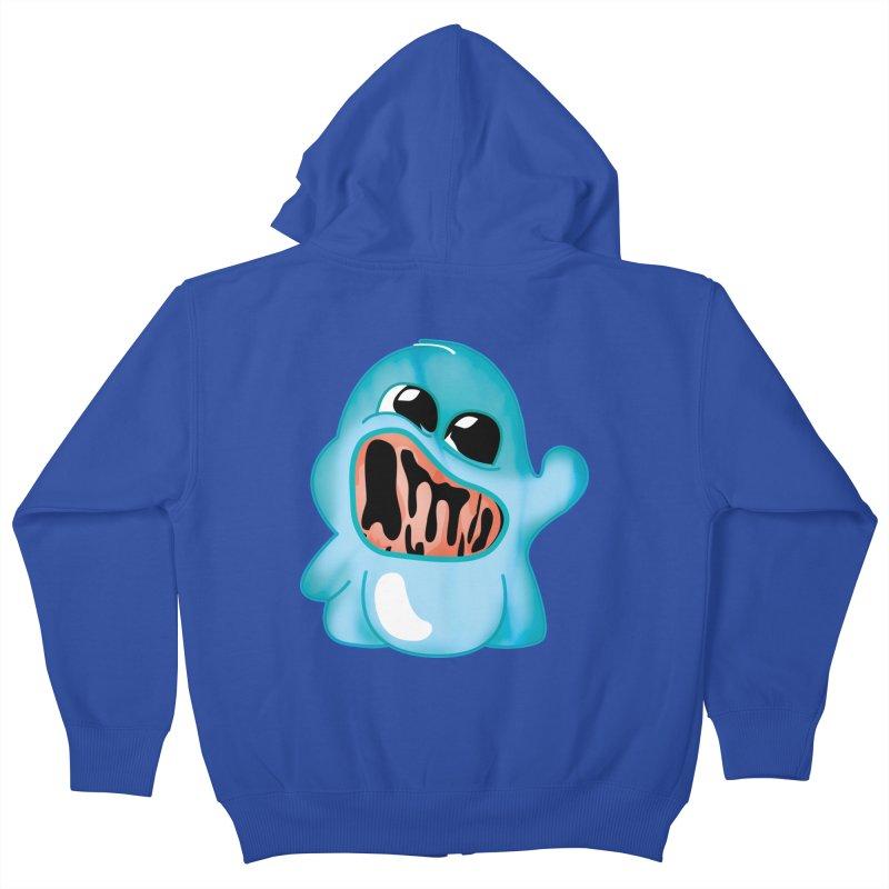 bubblegum monster Kids Zip-Up Hoody by masslos's Artist Shop