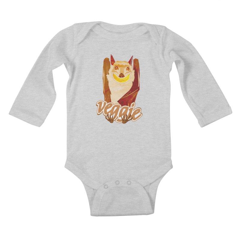 batnana Kids Baby Longsleeve Bodysuit by masslos's Artist Shop