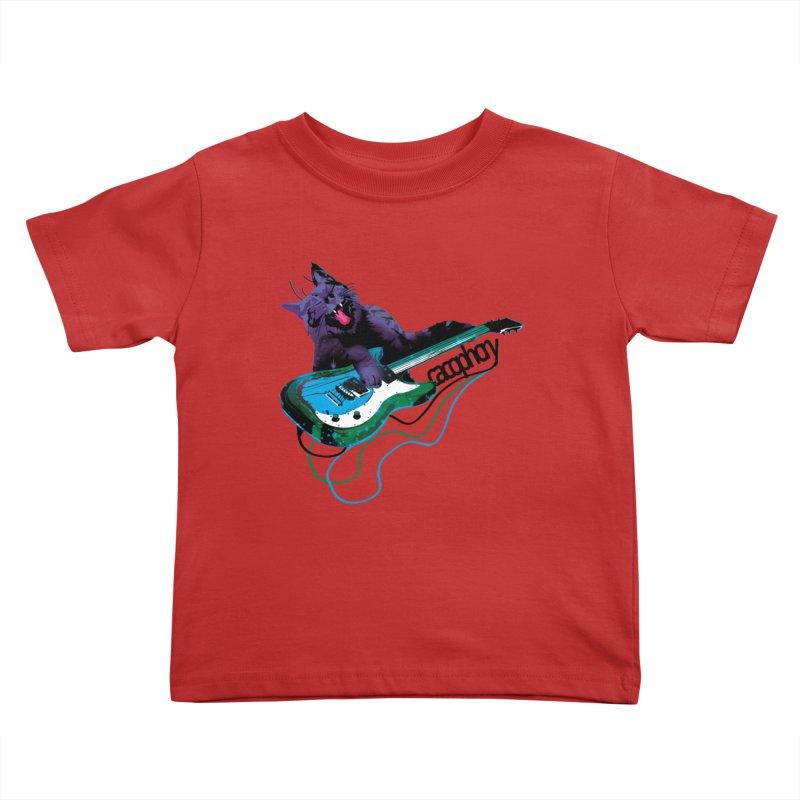 caterwauling Kids Toddler T-Shirt by masslos's Artist Shop