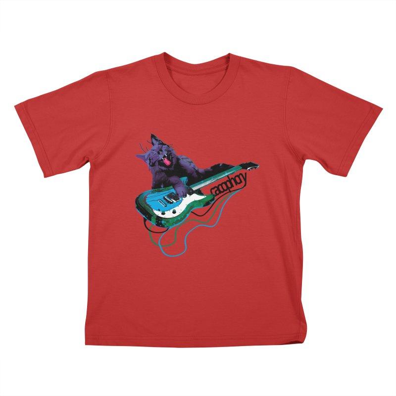 caterwauling Kids T-shirt by masslos's Artist Shop