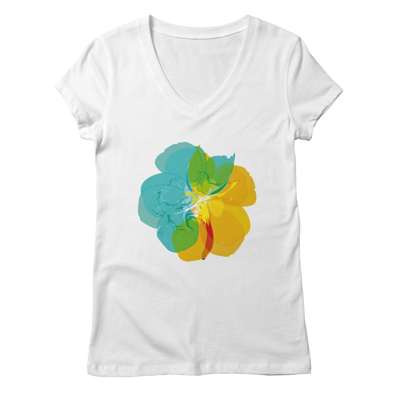 colour intoxication Women's Regular V-Neck by masslos's Artist Shop