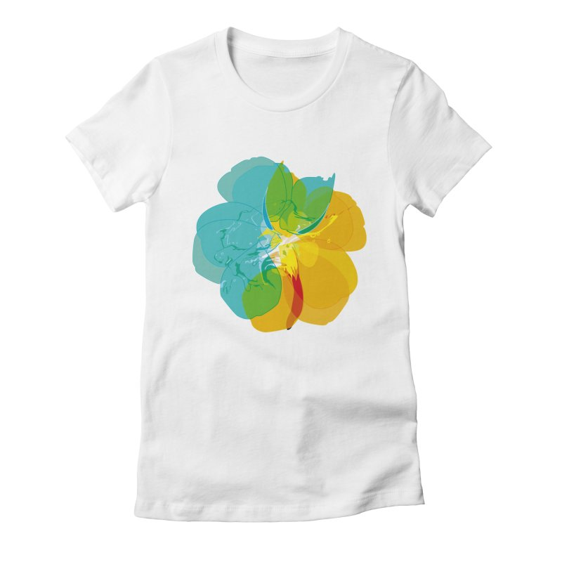 colour intoxication Women's Fitted T-Shirt by masslos's Artist Shop