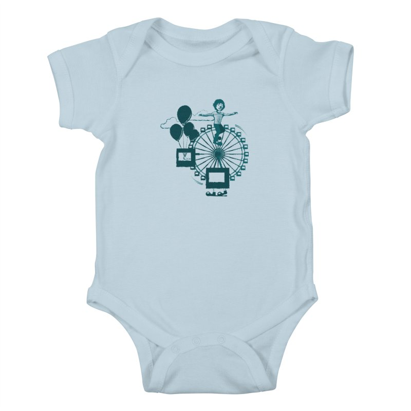 Ferris wheel Kids Baby Bodysuit by masslos's Artist Shop