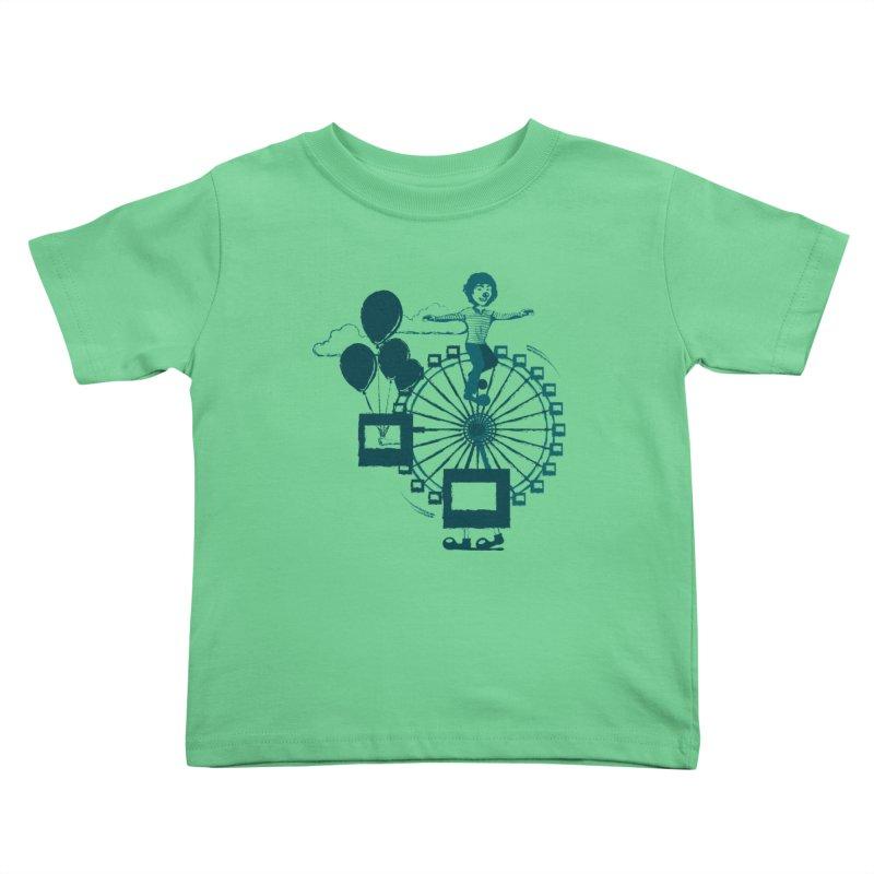 Ferris wheel Kids Toddler T-Shirt by masslos's Artist Shop