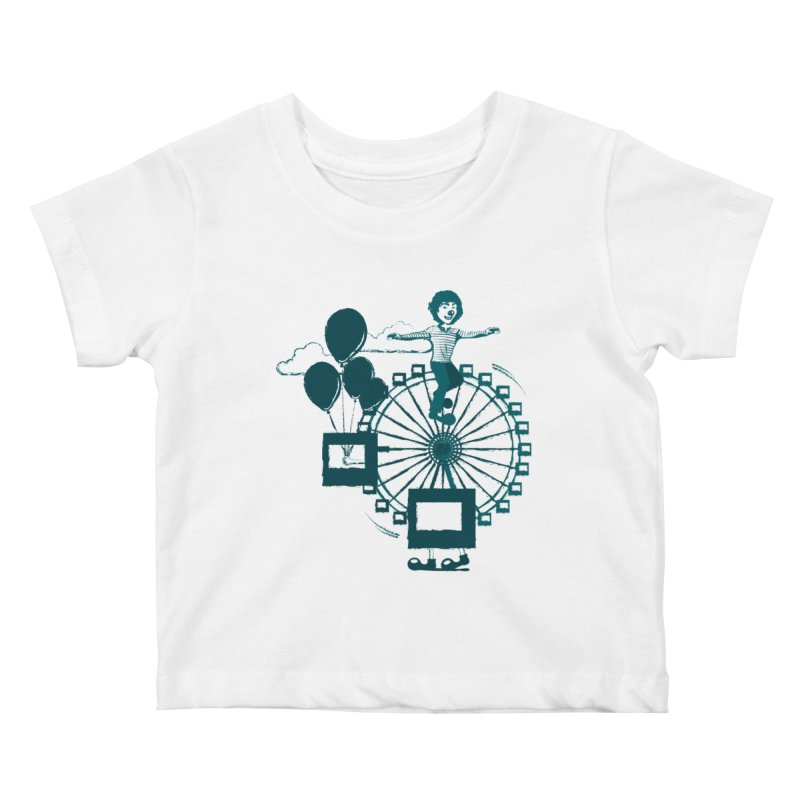 Ferris wheel Kids Baby T-Shirt by masslos's Artist Shop