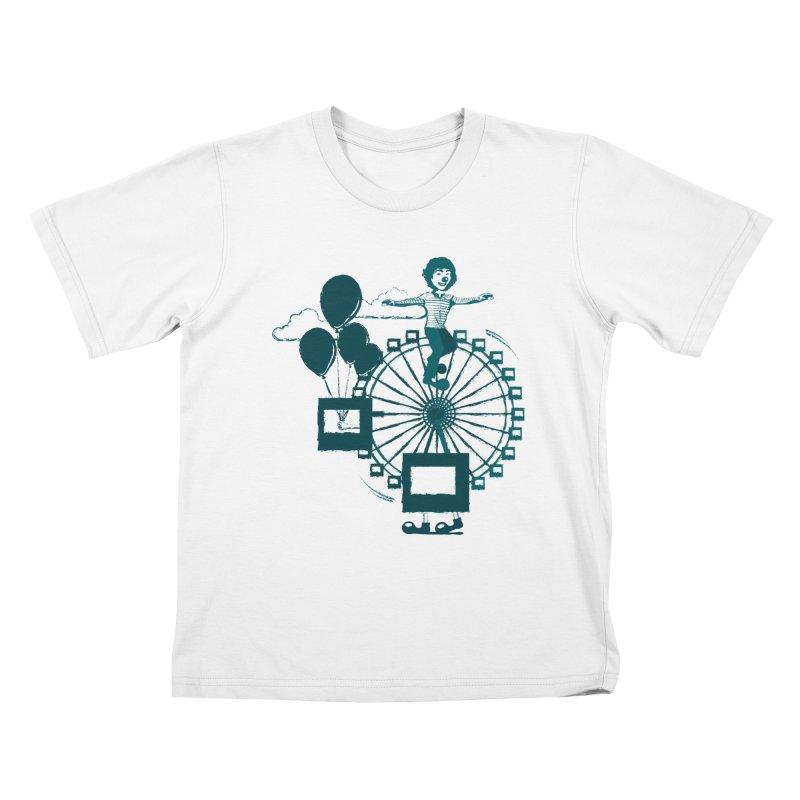 Ferris wheel Kids T-Shirt by masslos's Artist Shop