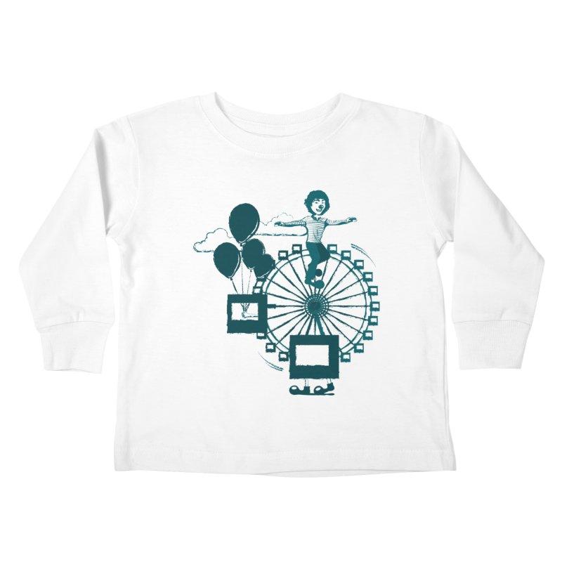 Ferris wheel Kids Toddler Longsleeve T-Shirt by masslos's Artist Shop