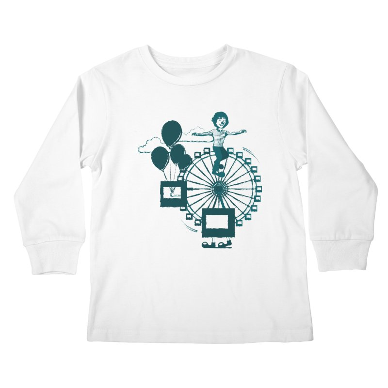 Ferris wheel Kids Longsleeve T-Shirt by masslos's Artist Shop