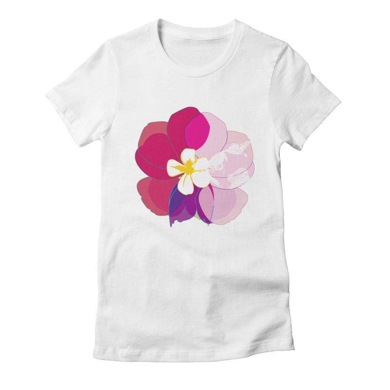 flower fish Women's Fitted T-Shirt by masslos's Artist Shop