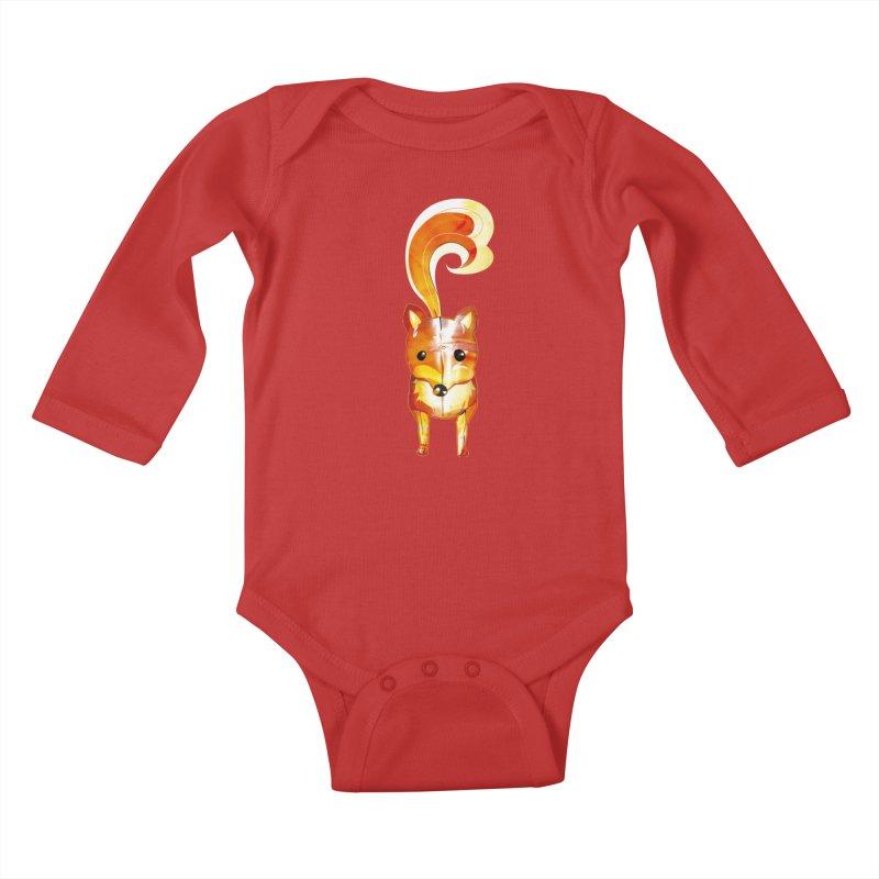 foxxy Kids Baby Longsleeve Bodysuit by masslos's Artist Shop
