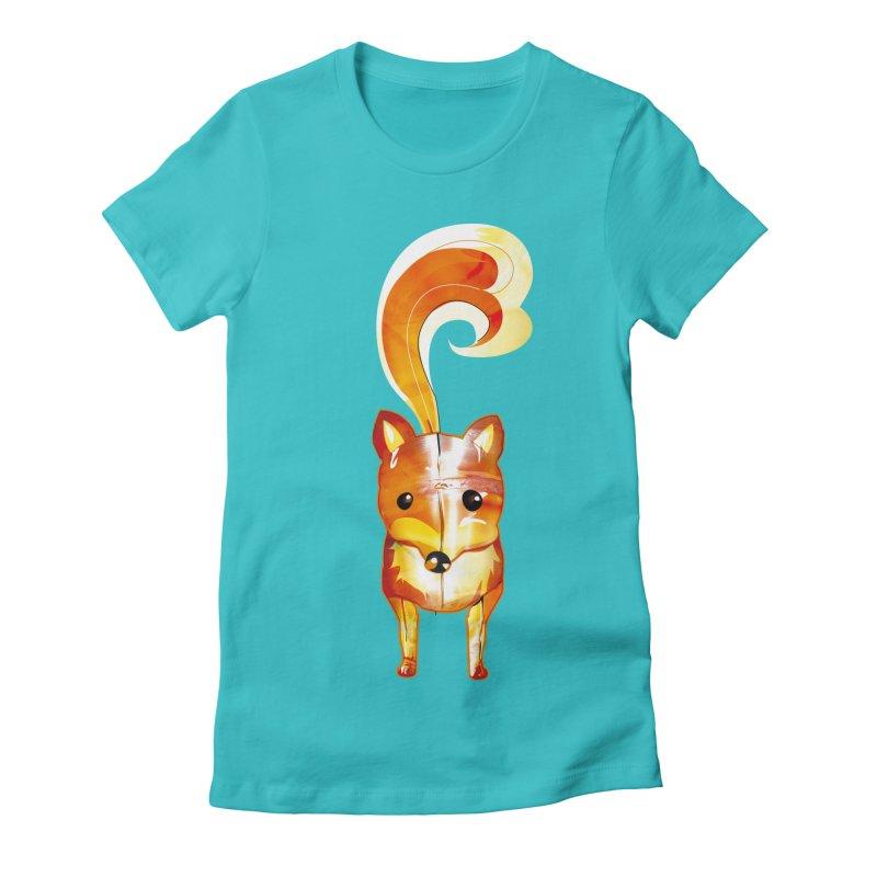 foxxy Women's Fitted T-Shirt by masslos's Artist Shop