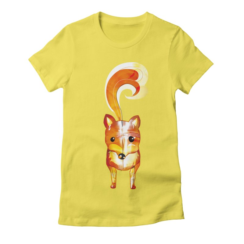 foxxy Women's Fitted T-Shirt by masslos's Artist Shop